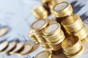 Gestpelte 1 Euro Münzen