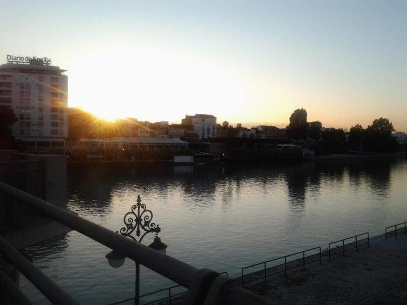 Austauschstudentin: Der Fluss Guadalquivir in Sevilla