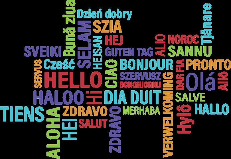 Hallo auf verschiedenen Sprachen