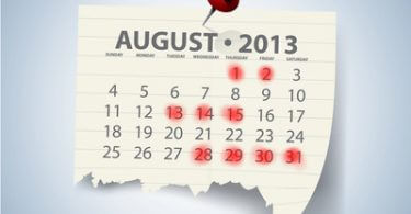 Messekalender August