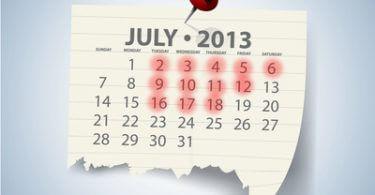 Messekalender Juli