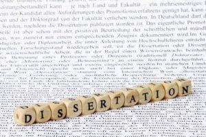 Dissertation - kein Würfelspiel