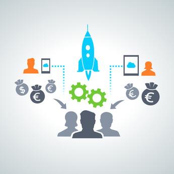 Visualisierung der Schwarmfinanzierung - Crowdinvesting