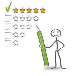 Bewertungssystem mit Sternen