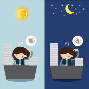 Tag- und Nachtarbeit