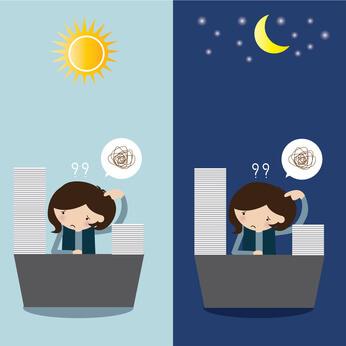 Tag- und Nachtarbeit mit Überstunden