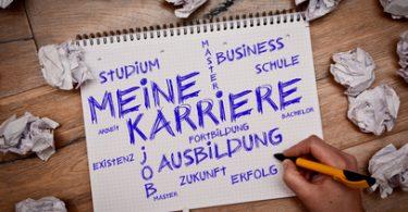 Karriere-Wordcloud - Ausbildungsanfang
