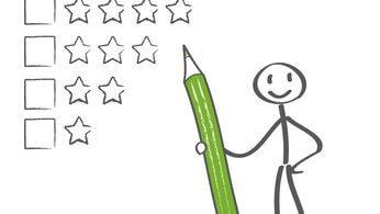 Bewertungssystem mit Sternen - Arbeitgeber bewerten