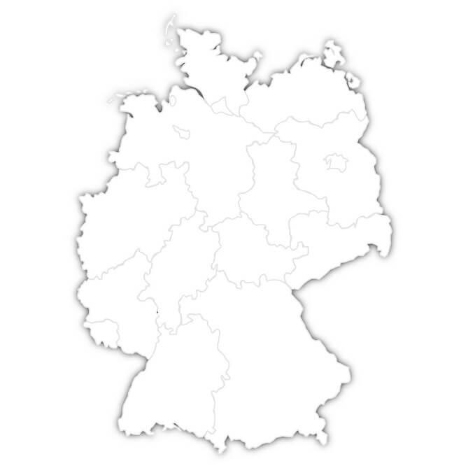 deutschlandkarte blanko Ausbildungs Atlas deutschlandkarte blanko