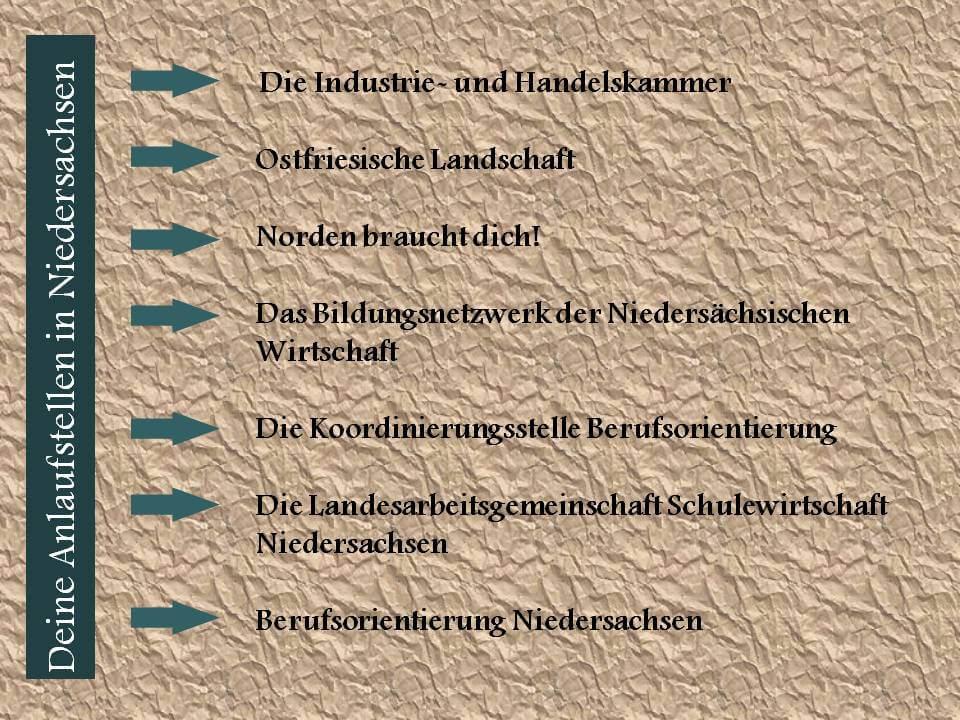 Tipps für Niedersachsen