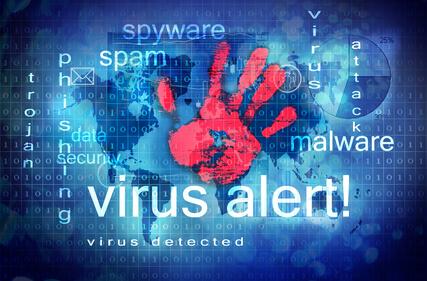 Online-Bewerbung Virenschutz