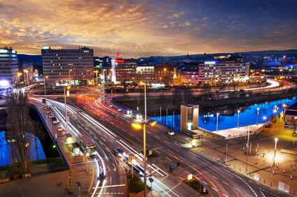 Nachtaufnahme Saarbrücken