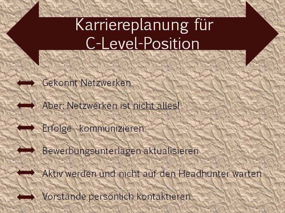 Karriereplanung für C-Level-Positionen