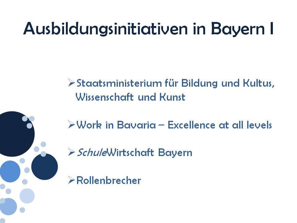 Ausbildungsinitiativen Bayern