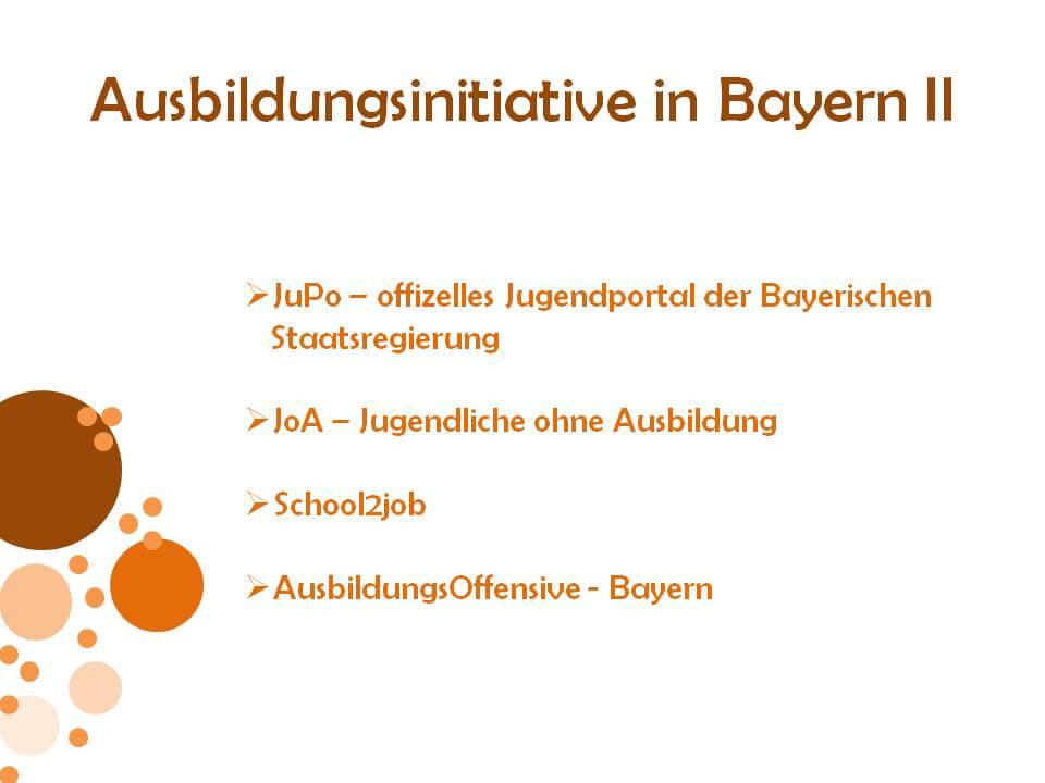 Ausbildungsinitiativen in Bayern 2