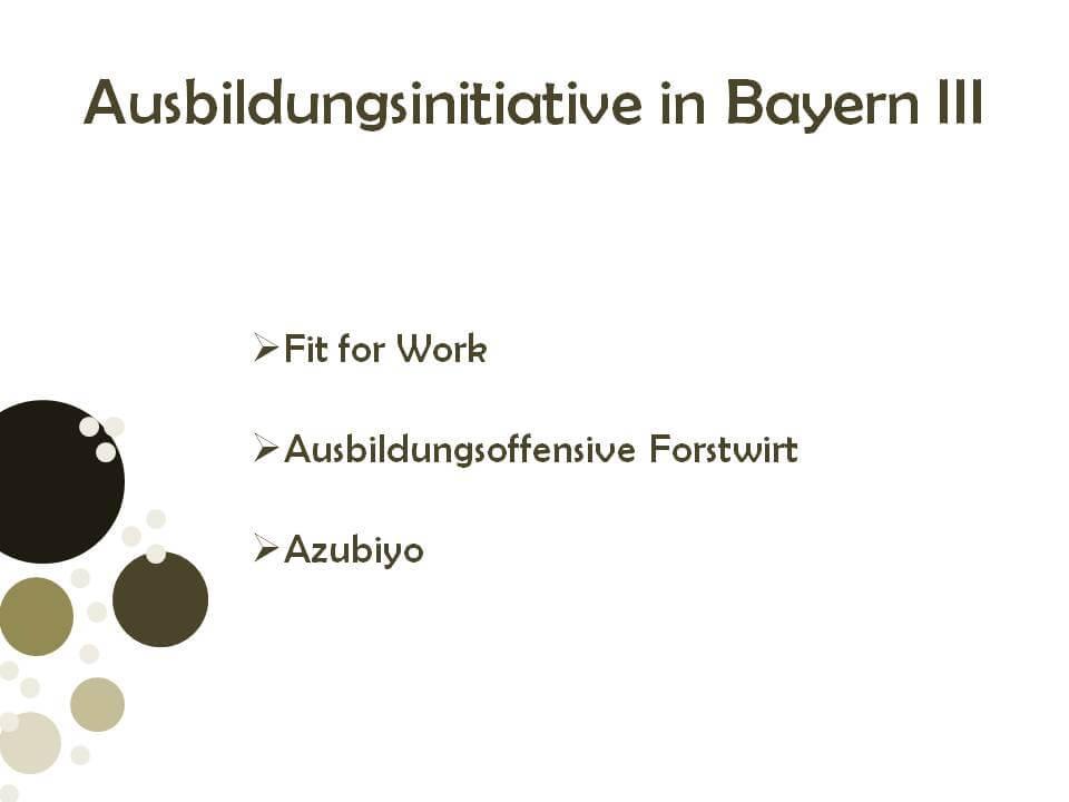 Ausbildungsinitiativen in Bayern 3