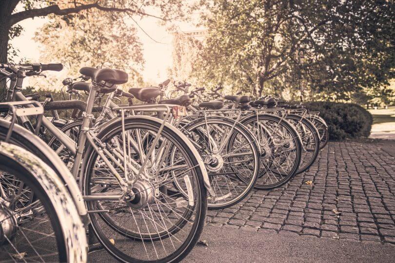 Studententypologie: Fahrräder am Campus