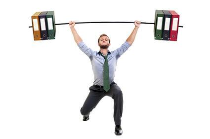 fitness am schreibtisch