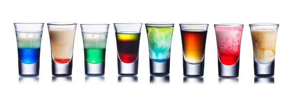Verschiedenfarbige Drinks