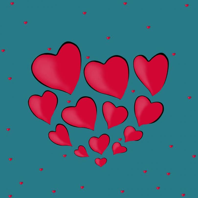 Herzen Flirten Büro