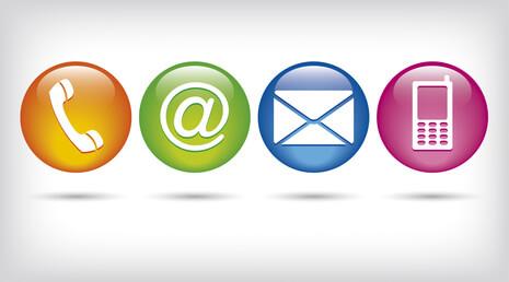 verschiedene Kontakticons - Bewerbungs-Apps