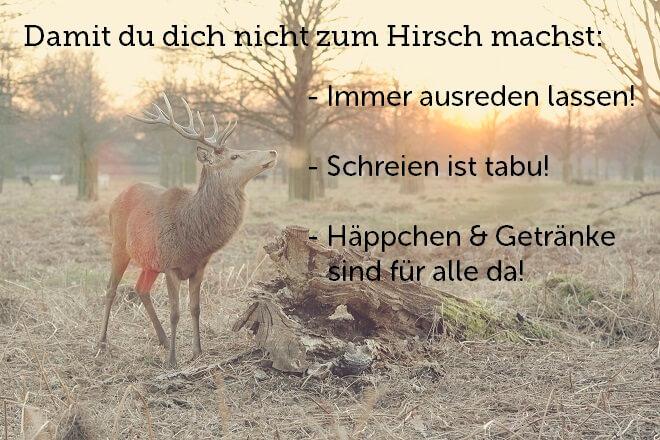 Hirsch im herbstlichen Wald, Zusammenfassung der oberen Punkte