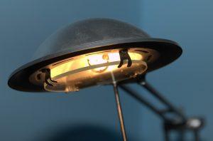leuchtende Schreibtischlampe