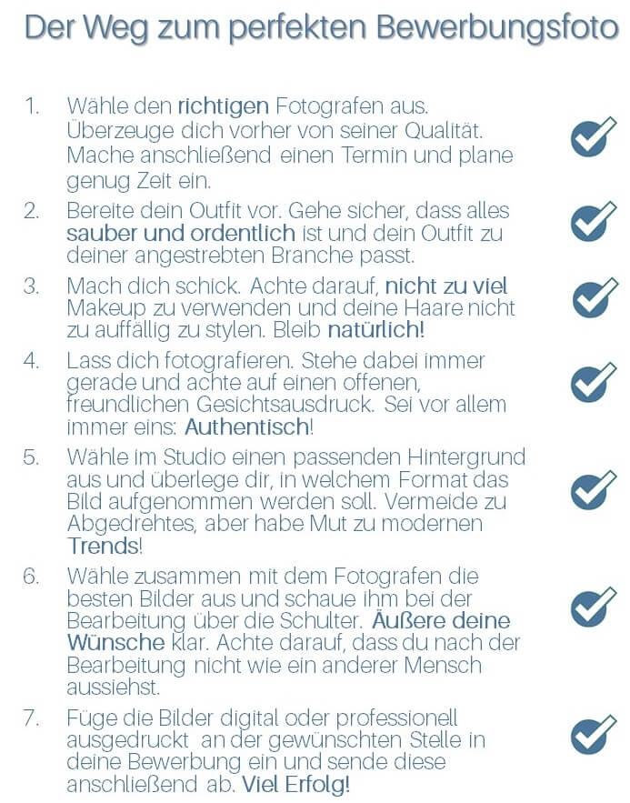 Checkliste für Bewerbungsfotos | karriereguru
