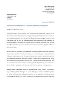 Erasmus Motivationsschreiben   marlpoint