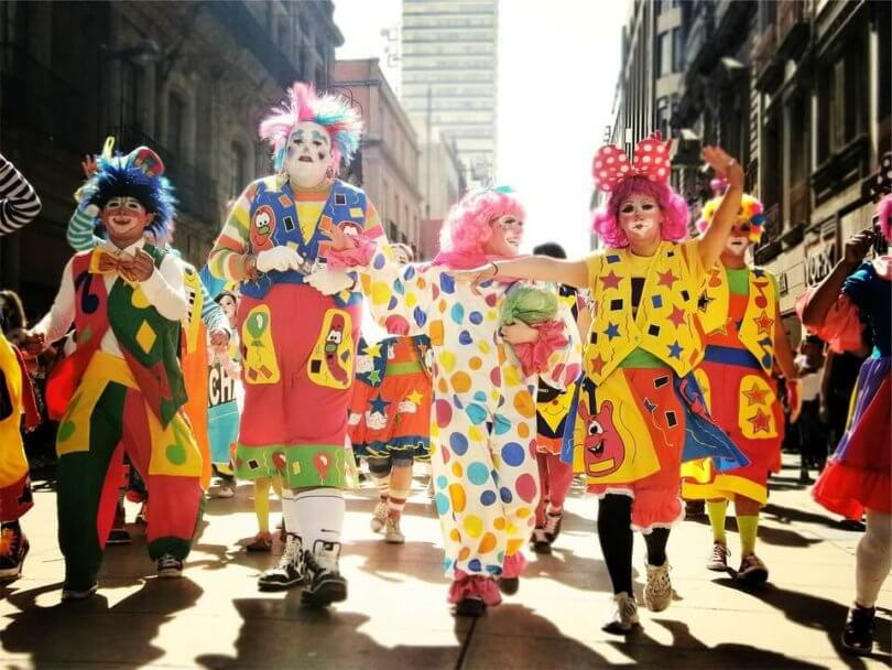 Clowns an Karneval