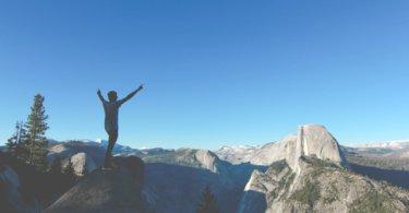 Ziele erreichen Mann auf einem Berg